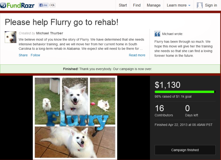 Please help Flurry go to rehab! by Michael Thurber 2013-05-05 00-42-26