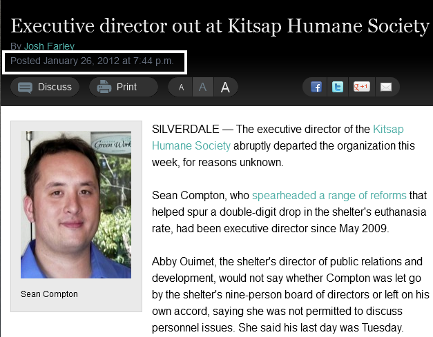 Executive director out at Kitsap Humane Society » Kitsap Sun jan26