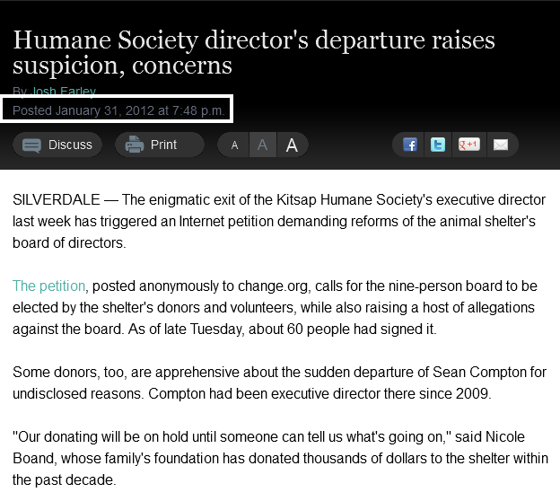 Humane Society director's departure raises suspicion, concerns » Kitsap Sun jan31
