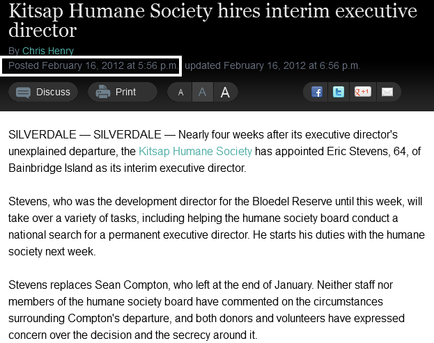 Kitsap Humane Society hires interim executive director » Kitsap Sun feb16